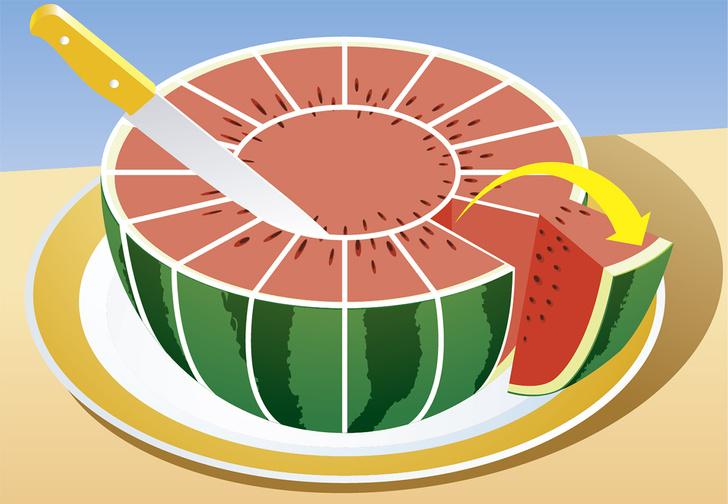 Фото №7 - 8 способов разрезать и съесть арбуз