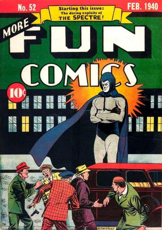 Первое явление Спектра в комиксе, MORE FUN COMICS #52 (1940) - $310,000