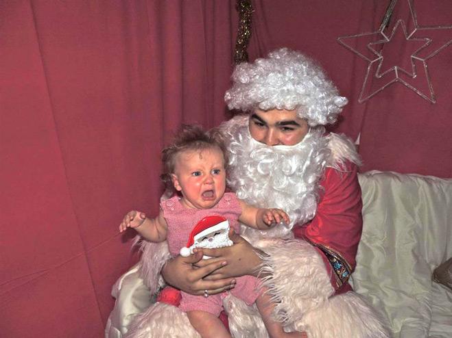 Санта и ребенок