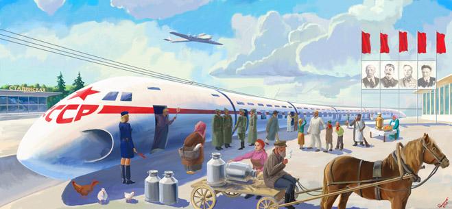 Фото №1 - История советского шаропоезда, чуть не перевернувшего представление о железной дороге в 30-х годах