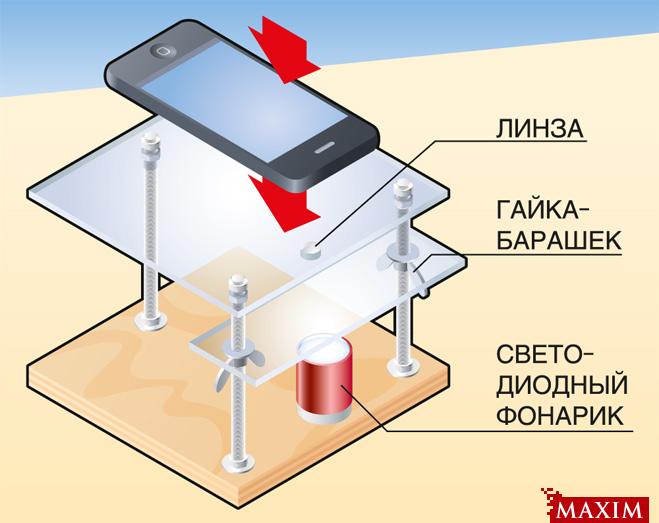Фото №1 - Как сделать микроскоп из смартфона