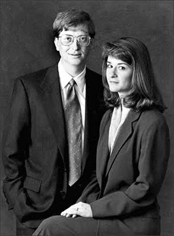 Билл Гейтс и Мелинда Френч