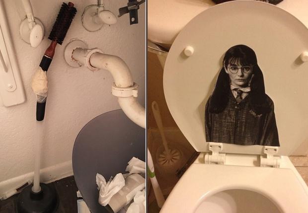 Фото №1 - Девушки выложили фото самых диких и странных вещей, которые они находили у парней в ванной