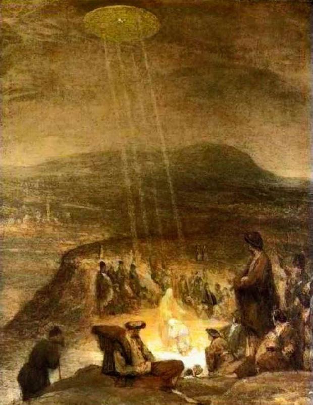 Фото №3 - 9 средневековых картин, на которых изображены НЛО