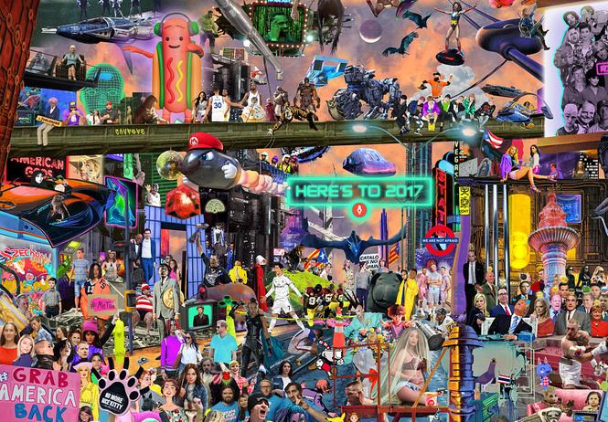 Все самые-самые события 2017 года — в одной картинке!
