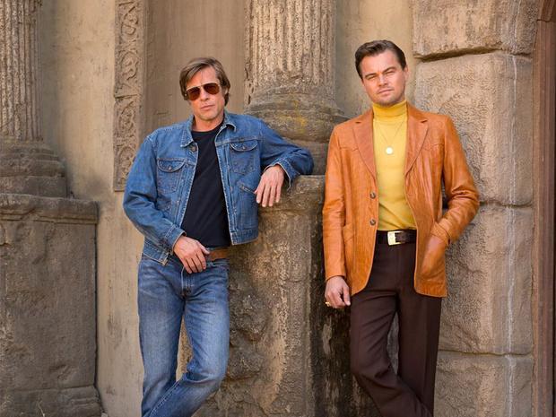 Фото №2 - В Сеть попал неотретушированный кадр с Ди Каприо и Брэдом Питтом