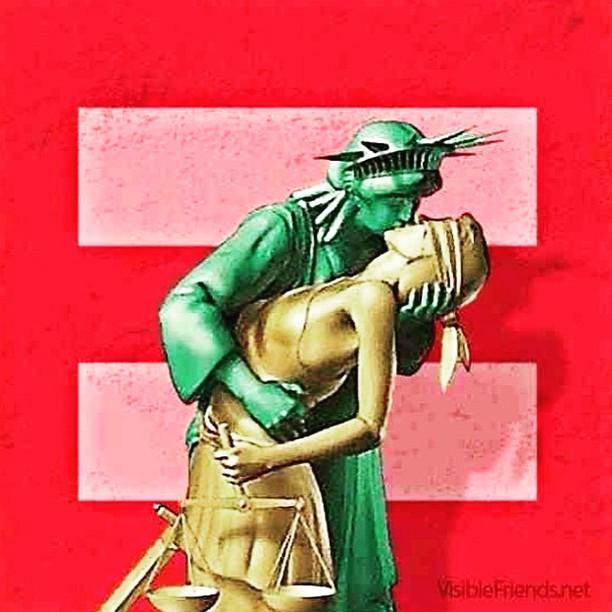 Фото №1 - Радужные перспективы: шутки про легализацию однополых браков в США