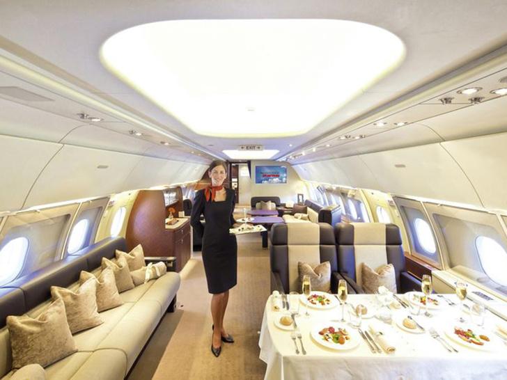 Фото №7 - Летающие лимузины! Как выглядят пассажирские самолеты, превращенные в частные