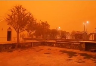 Адская песчаная буря превратила остров Крит в Марс (фантастически апокалиптичные ВИДЕО и ФОТО)