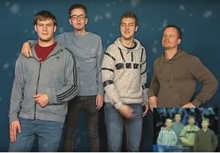 Пародии на гимн Нового года от группы «Стекловата» со всего света