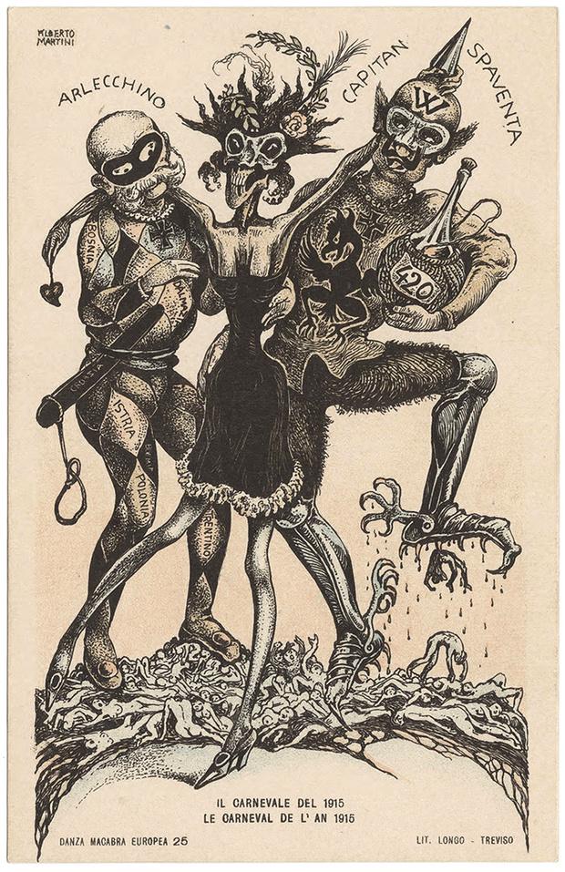 Фото №26 - Жутковатые карикатуры Первой мировой