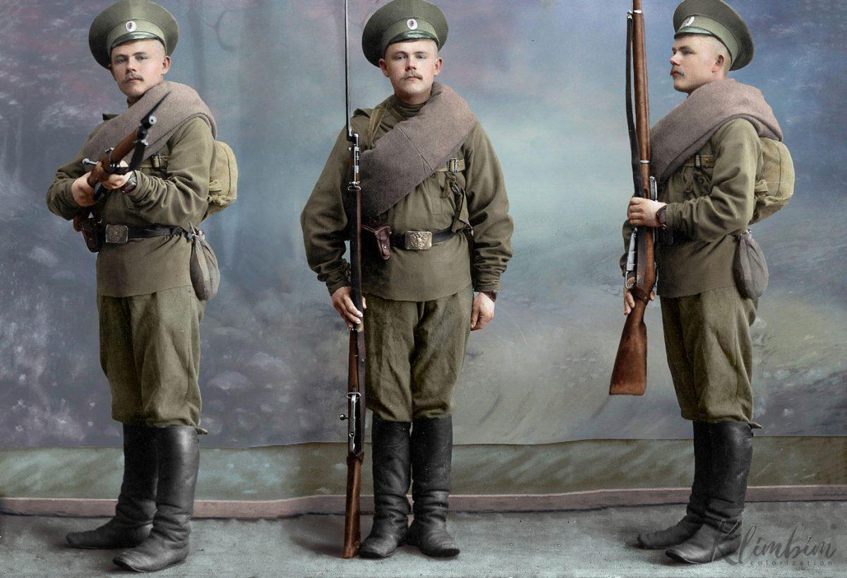 Раскрашенные фото Российской императорской армии в WWI История