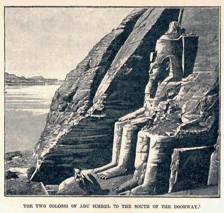 Храм в Абу-Симбеле, который Белзони откопал в дюне