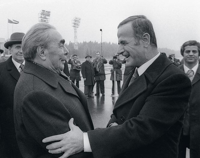 Леонид Брежнев и Хафез Асад. 1978 г.