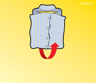 Фото №3 - Как сложить рубашку с помощью журнала