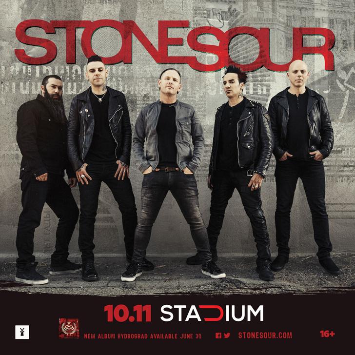 Stone Sour во главе с неподражаемым Кори Тейлором дадут единственный концерт в России и представят свой новый альбом Hydrograd!