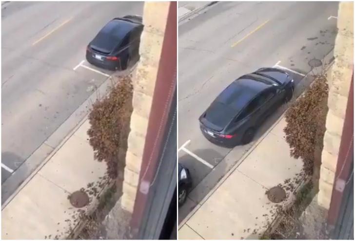 Фото №1 - Парень победил систему платной парковки, используя одну из функций «Теслы»