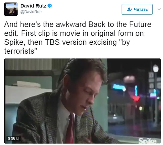Фото №2 - Фильм «Назад будущее» подвергся цензуре из-за пропаганды терроризма
