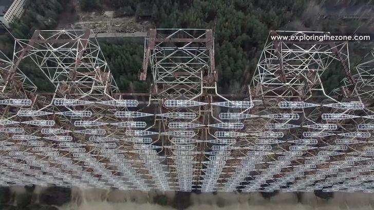 Фото №3 - Вид с воздуха на легендарную чернобыльскую «Дугу», и что это вообще такое