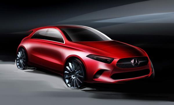 Mercedes A-Class: дизайн. Эскиз 1