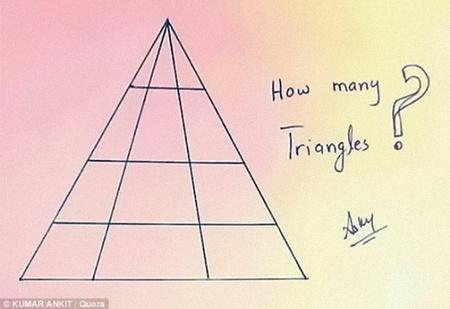 Сколько треугольников ты видишь?