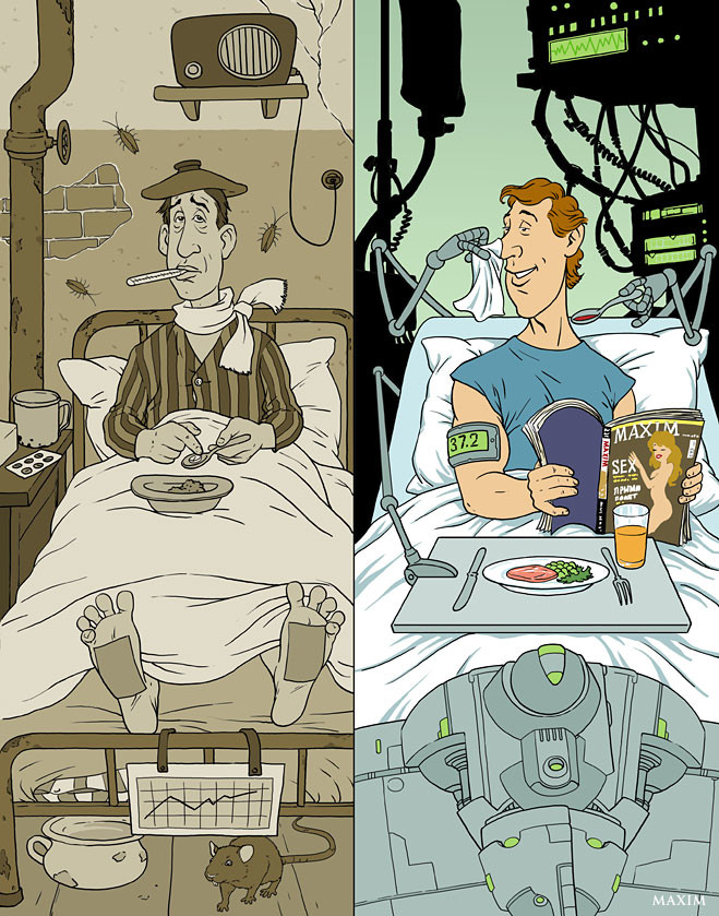Лечение в больнице - прошлое и настоящее