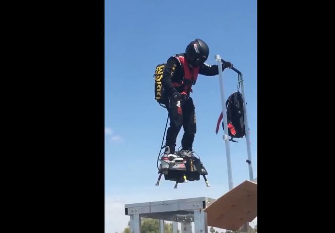 Как проходят испытания летающего скейта (ВИДЕО)