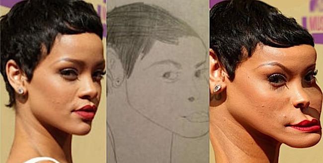 Фото №3 - Как бы выглядели знаменитости, если бы были похожи на портреты, нарисованные фанатами!