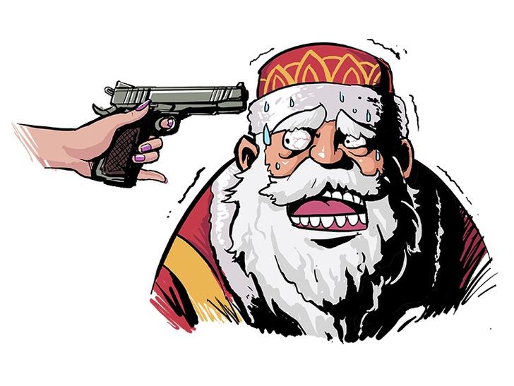 Фото №1 - Новый год против сексуальности: Дед Мороз против Бабы Жары!