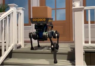 На выставке CES показали робота-собаку-курьера, который может найти твой дом (видео)
