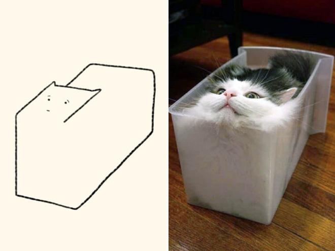 художник день создает реалистичному рисунку кота