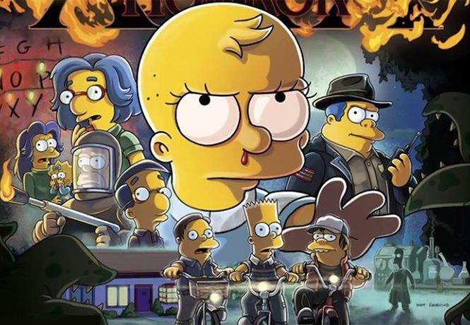Фото №1 - В следующем хоррор-выпуске Симпсонов будут «Очень странные дела» и «Форма воды»