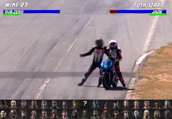 Фото №1 - Драка двух мотоциклистов во время гонки (видео)