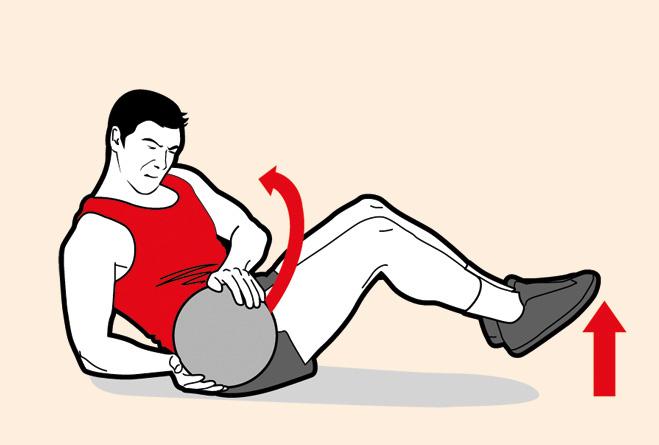 Повороты корпуса с мячом (атлет)