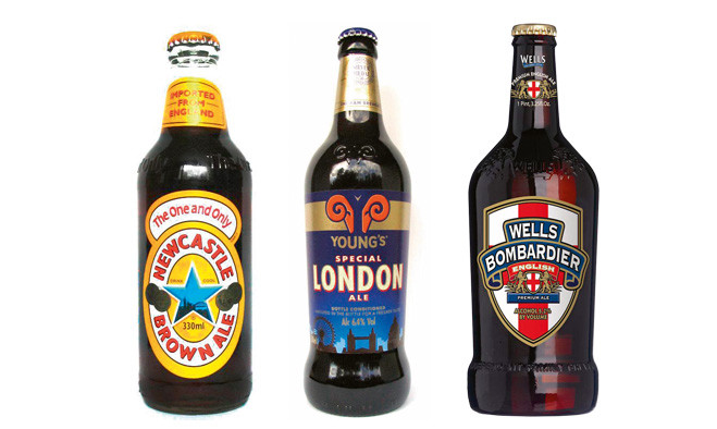 Newcastle Brown Ale, Bombardier, Young's Special London Ale