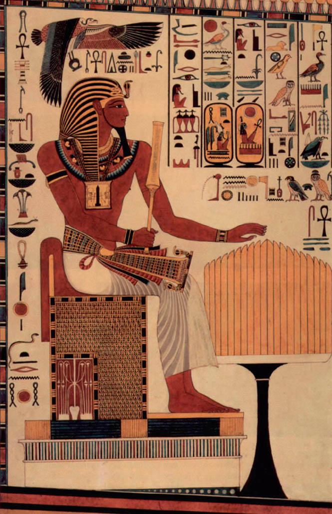 Росписи в гробнице Сети I