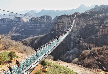 Идея для отпуска: самый длинный подвесной мост в Хэбэе, Китай