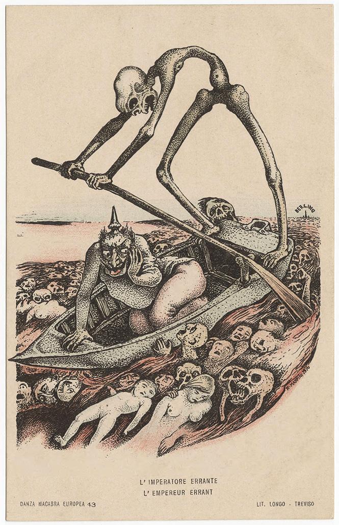Фото №13 - Жутковатые карикатуры Первой мировой
