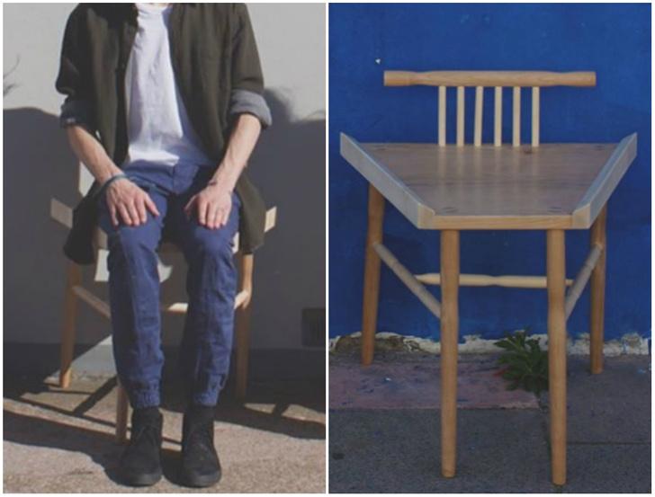 Фото №1 - Студентка создала стулья для борьбы с мэнспредингом