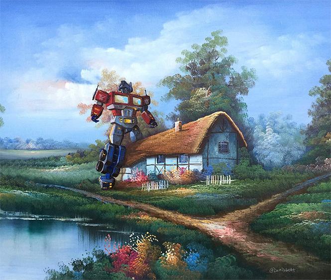 Художник скупает никому не нужные полотна и делает их веселыми!
