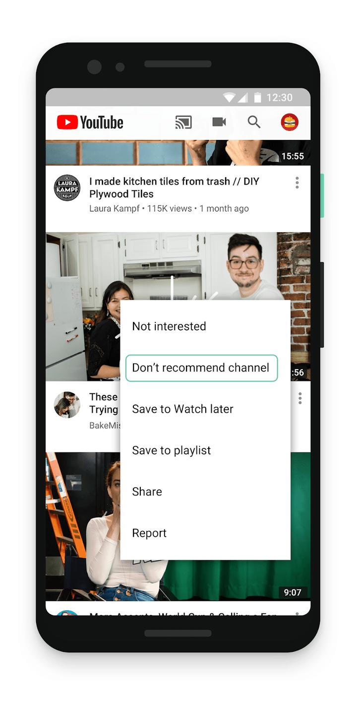 Фото №2 - YouTube наконец разрешил пользователям блокировать рекомендации каналов и дал больше инструментов для формирования ленты