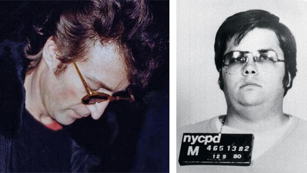 Джон Леннон и Марк Чепмен