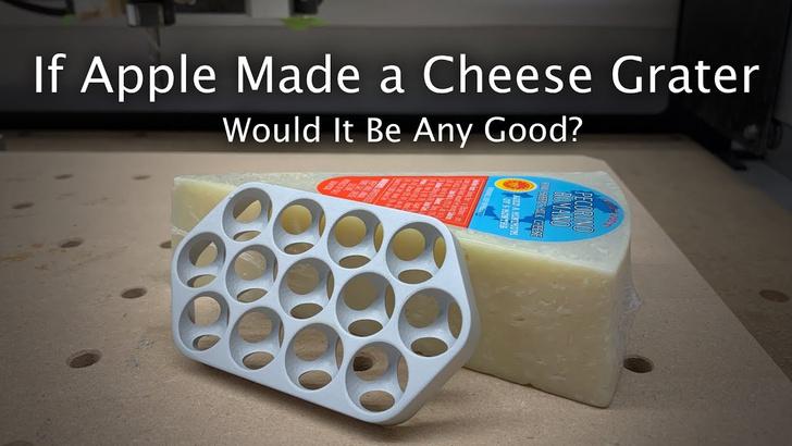 Фото №1 - Американец проверил, действительно ли на корпусе нового Mac Pro можно натереть сыр (видео)