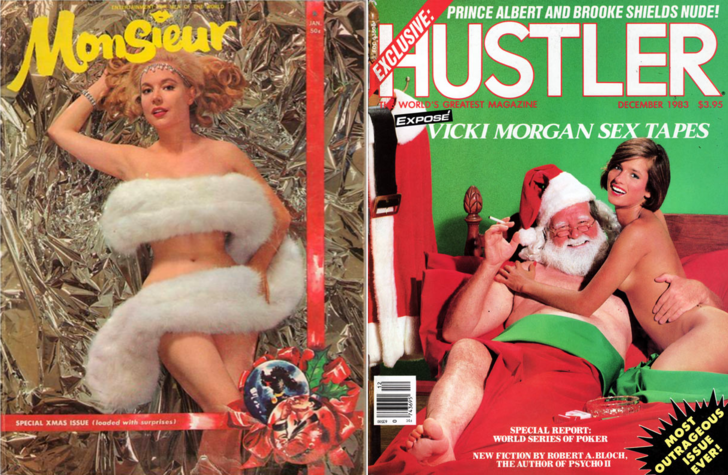Фото №1 - Новогодние ретрообложки журналов для мужчин!