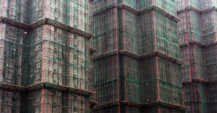 Фото №1 - Странная красота строительных лесов в Гонконге (галерея)