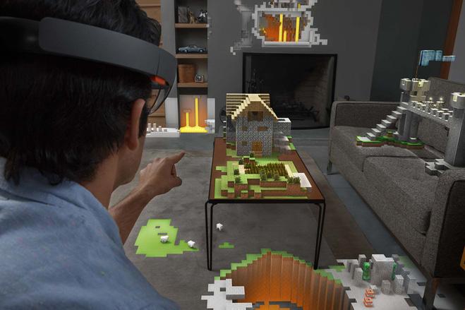 Minecraft через HoloLens
