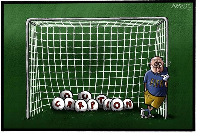 Фото №13 - Пенальти разных широт: коррупция ФИФА глазами иностранных карикатуристов