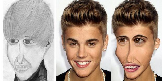 Фото №1 - Как бы выглядели знаменитости, если бы были похожи на портреты, нарисованные фанатами!