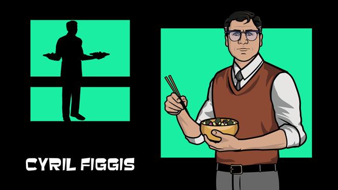 Сирил Фиггис носит однотонные жилеты и массивные очки