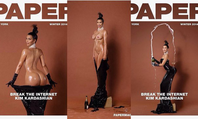 Ким Кардашьян на обложке Paper